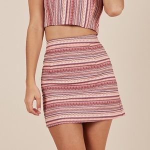 NEW with tags High Waisted Pink Print Mini Skirt
